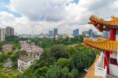 City View from Thean Hou Temple. Kuala Lumpur scenic city view from Thean Hou Temple royalty free stock photography