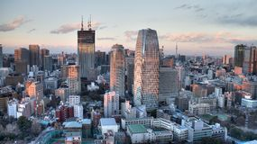 City view. From Tokyo Tower Stock Image