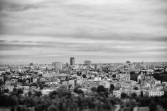 City view from the top. City view of Bucharest, Romania Royalty Free Stock Photos