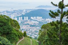 City view from Penang hill Royalty Free Stock Photo