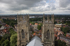 City view from top of York Minster Royalty Free Stock Image