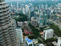 City view with twin tower. Malaysia city view with twin tower Royalty Free Stock Image