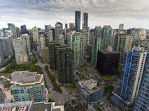 City View Vancouver. Drone view of Vancouver, BC, Canada Royalty Free Stock Photos