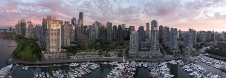 City View Vancouver. Drone view of Vancouver, BC, Canada Stock Image
