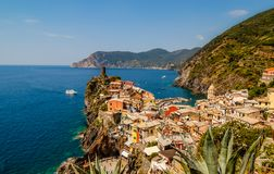 City view of Vernazza. royalty free stock image