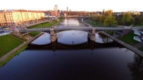 City view, Vilnius stock video