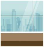 City view through window Royalty Free Stock Photos