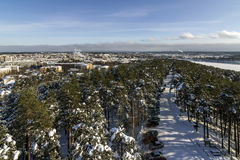 City view. Wintry city view in western Finland royalty free stock photos