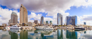 Free City View With Marina Bay At San Diego, California Royalty Free Stock Images - 53539519