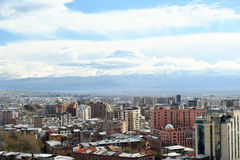 City view of Yerevan and Ararat. Mountain Stock Image