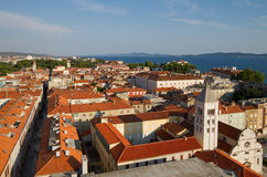 City view of Zadar, Croatia. Aerial view of the old Dalmatian city of Zadar in Croatia royalty free stock photo