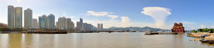 The City view of zhuhai royalty free stock photos