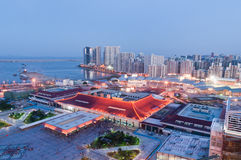 The City view of zhuhai gongbei night Royalty Free Stock Images