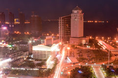 The City view of zhuhai gongbei night Stock Image