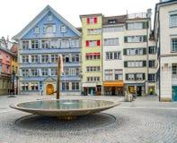 Zurich in Switzerland. City view of Zurich, the largest city in Switzerland stock image