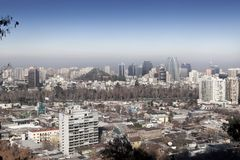 City viewed from San Cristobal hill, Santiago, Stock Photography