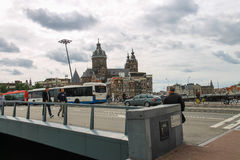 City views in the center of Amsterdam Royalty Free Stock Photos
