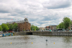 City views in the center of Amsterdam Royalty Free Stock Images