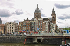 City views in the center of Amsterdam Royalty Free Stock Photo