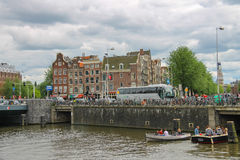 City views in the center of Amsterdam Royalty Free Stock Image