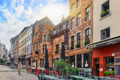 City views cozy European cities - Brussels, Belgium and the Euro Royalty Free Stock Photo