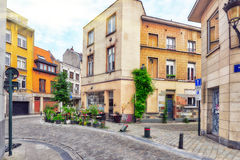City views cozy European cities - Brussels, Belgium. Royalty Free Stock Images