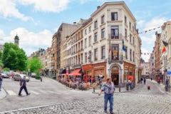 City views cozy European cities - Brussels, Belgium. Stock Images