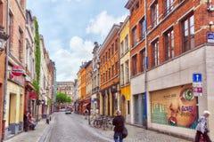 City views cozy European cities - Brussels, Belgium. Royalty Free Stock Photo