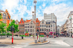 City views cozy European cities - Brussels, Belgium. Royalty Free Stock Image