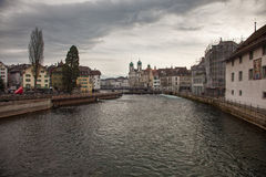 City views from downtown Luzern Lucerne, Switzerland Stock Photos