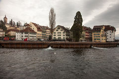City views from downtown Luzern Lucerne, Switzerland Royalty Free Stock Image