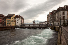 City views from downtown Luzern (Lucerne), Switzerland Stock Photos