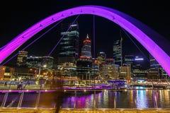 City views from Elisabeth Quay Bridge Stock Photography