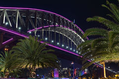 City views at Milsons Point with Sydney Harbour Bridge. SYDNEY, AUSTRALIA - JUNE 6, 2015 - Scenic views from the harbourside walk at Milsons Point with Sydney Stock Images