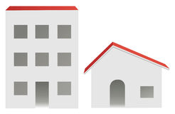 City and village buildings royalty free illustration