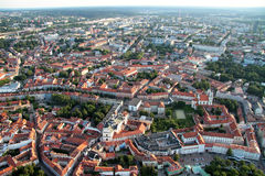 City of Vilnius Lithuania, aerial view Stock Images
