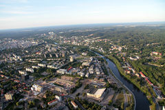 City of Vilnius Lithuania, aerial view royalty free stock photos