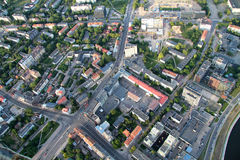 City of Vilnius Lithuania, aerial view stock photo
