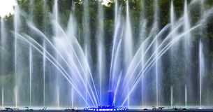 The city of Vinnytsia is a waterfront near the Roshen plant, in the evenings the fountain shows a laser show for. Residents and guests of the city Stock Image