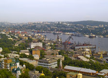 The City Vladivostok, bay Golden Horn, Russia Royalty Free Stock Photography
