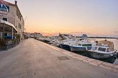 City Vodice in Croatia. Royalty Free Stock Photography