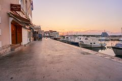 City Vodice in Croatia. Stock Image