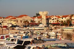 City of Vodice. Holiday travel city. Beautiful Vodice in Croatia Royalty Free Stock Images