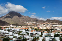 City by the volcanic Canary Islands Stock Photo
