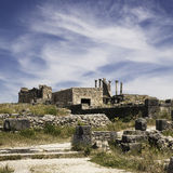The city of Volubilis. The ruin city of Volubilis in Morocco. Former Roman city Royalty Free Stock Images