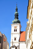 City Vyskov and churches, Czech Republic, Europe Royalty Free Stock Images