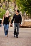 City Walk Couple Stock Images