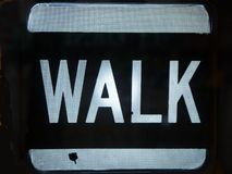 City: Walk sign royalty free stock photo
