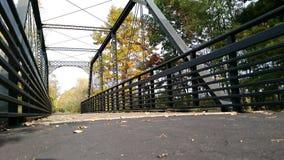 City walking bridge. A city walking bridge I took in Alma Michigan Royalty Free Stock Photo