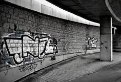 City wall. Graffiti on a city wall Royalty Free Stock Image